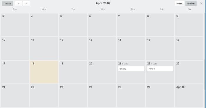 trello-calendar